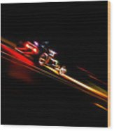 Speeding Hot Rod Wood Print by Phil 'motography' Clark