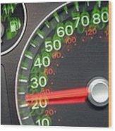Speedometer Wood Print by Johnny Greig