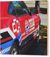 Speedway Camaro Wood Print