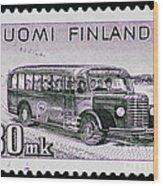 Speedy Old Bus Wood Print