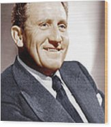 Spencer Tracy, Ca. 1940s Wood Print by Everett