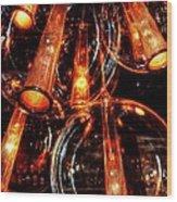 Spherical Lamps Wood Print