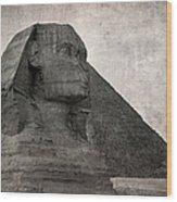 Sphinx Vintage Photo Wood Print