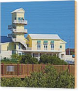 Spi Birding Center From The Boardwalk Wood Print