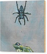 Spider Fly And Toad Wood Print by Fabrizio Cassetta