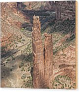 Spider Rock - Canyon De Chelly Wood Print