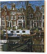 Spiegelgracht 28. Amsterdam Wood Print