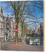 Spiegelgracht 36. Amsterdam Wood Print