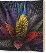 Spiky Botanical Wood Print by Peggi Wolfe
