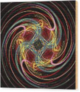 Spin Fractal Wood Print
