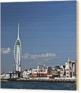 Spinnaker Tower And Round Tower Portsmouth Wood Print