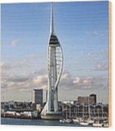 Spinnaker Tower Wood Print by Jane Rix