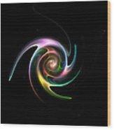 Spinning Galaxy Wood Print by Steve K