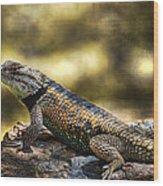 Spiny Lizard Wood Print