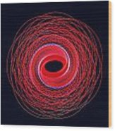 Spiral Abstract 24 Wood Print
