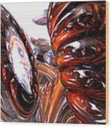 Spiral Dimension Abstract Wood Print