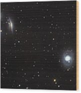 Spiral Galaxies Ngc 1068 And Ngc 1055 Wood Print