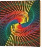 Spiral Rainbow  Wood Print
