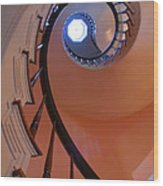 Spiral Stairway Wood Print by Steven Ainsworth