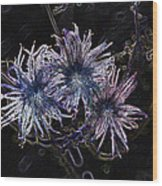 Spirit Flowers Wood Print
