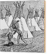 Spirit Lake Massacre, 1857 Wood Print
