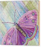Spiritual Butterfly Wood Print