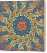 Spiritual Pinwheel Wood Print