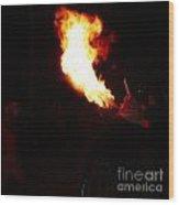 Spittin Fire Wood Print
