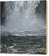 Splash Down Wood Print