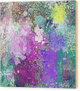 Splattered Colors Abstract Wood Print