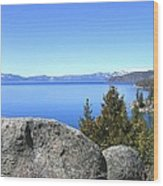 Splendid Lake Tahoe Wood Print