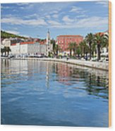 Split Bay In Croatia Wood Print