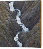 Split Creek Cascading Down Brabazon Wood Print
