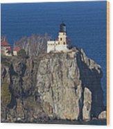 Split Rock Lighthouse 76 Wood Print