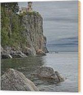 Split Rock Lighthouse In Northern Minnesota Wood Print