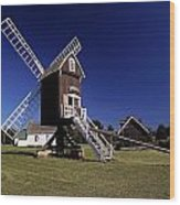 Spocott Windmill Wood Print