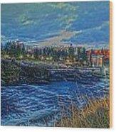 Spokane Falls  From Howard St Bridge Wood Print