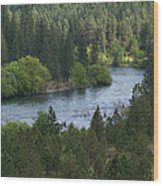 Spokane River Scene 2 Wood Print