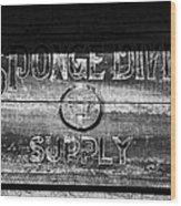 Sponge Diver Supply Wood Print