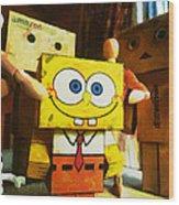 Spongebob Always Loves The Group Hugs Wood Print