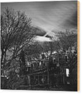 Spooky Night Wood Print by Ken Stachnik