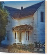 Spooky Old House Wood Print