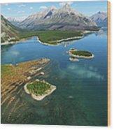 Spray Lakes Wood Print