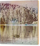 Sprayscape Lake Wood Print by Stephen Sly