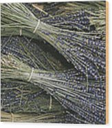Sprigs Of Lavender, Provence Region Wood Print