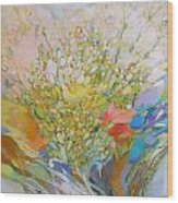 Spring - Square Painting Wood Print
