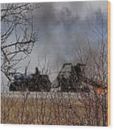 Spring Burning Of The Blueberry Fields Wood Print