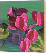 Spring Cyclamen Wood Print