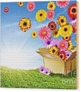 Spring Delivery Wood Print