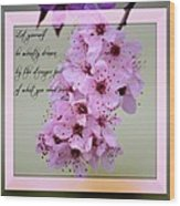 Spring Flowering Tree Inspirational Rumi Floral Wood Print